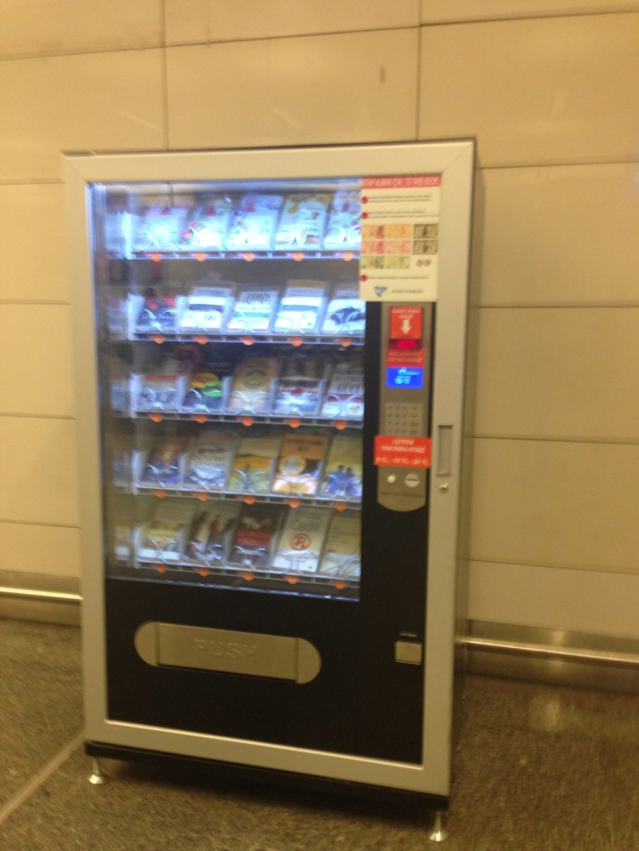 A book vending machine at the airport train station! It was then that I knew Istanbul was perfect.